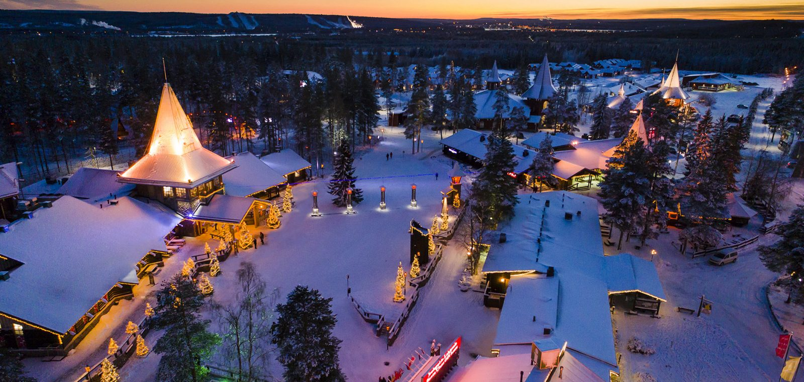 Santa Claus Village in Rovaniemi in Lapland Finland Arctic Circle