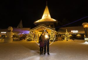 On the Arctic Circle in Rovaniemi in Finnish Lapland