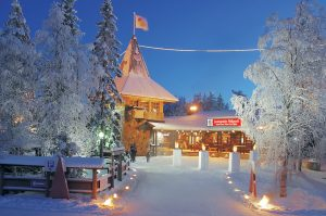 Santa Claus Main Post Office at the Arctic Circle in Rovaniemi in Finland