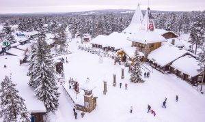 Santa Claus Village and the Arctic Circle in Rovaniemi in Lapland