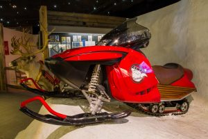 Santa's Snowmobile in the Christmas Exhibition at Christmas House in Rovaniemi