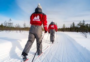 Guided cross-country skiing trips in Rovaniemi in Lapland